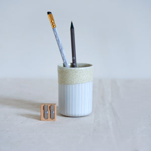 Duck Ceramics pistachio glazed porcelain tumbler vessel pot handmade in Brighton for Modern Craft