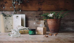 The Green Balm is an organic, multi-purpose healing and beauty balm. Natural, herbal cleanser with essential oils of yarrow and tea tree. Made in England for Modern Craft.