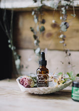 Load image into Gallery viewer, Aphrodite organic, natural facial oil with essential oils of rosehip, Damask rose, geranium, yarrow and marshmallow. Vegan, cruelty-free skincare made in England for Modern Craft.