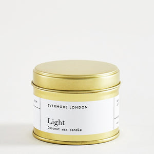 Evermore London light scented candle handmade soy and coconut wax vegan for Modern Craft