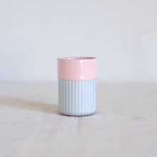 Load image into Gallery viewer, Duck Ceramics pink glazed vessel tumbler pot porcelain handmade in Brighton for Modern Craft
