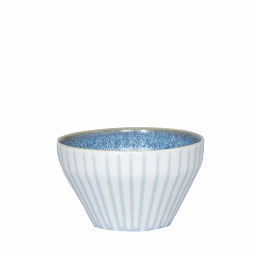 Duck Ceramics handmade porcelain azure blue dipping bowl pot made in Brighton for Modern Craft