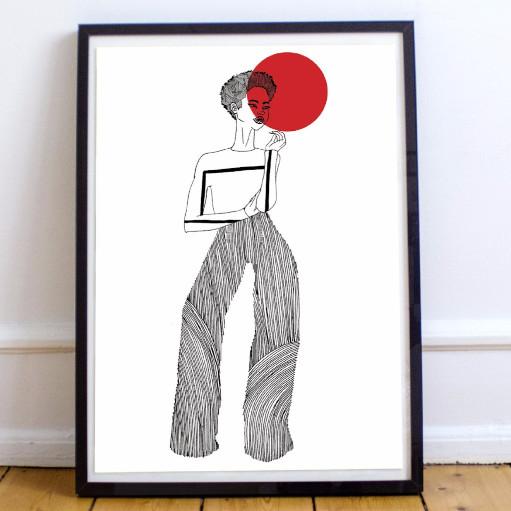 Dorcas Creates True Art print A3 Modern Craft