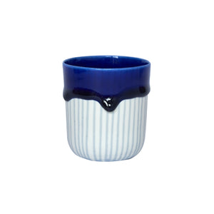 Duck Ceramics ultramarine cobalt blue glazed porcelain tumbler vessel pot handmade in Brighton for Modern Craft