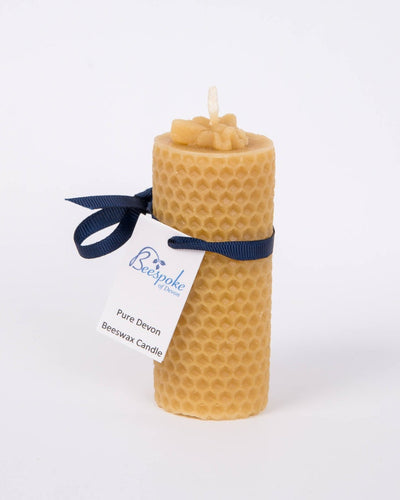 100% pure English beeswax honeycomb candle, handmade in Devon for Modern Craft