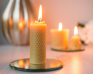 Pure Beeswax Honeycomb Candle | Beespoke of Devon