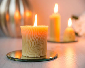 100% pure English beeswax wave candle, handmade in Devon for Modern Craft