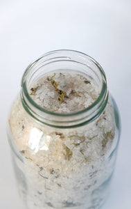 Holy Water Apothecary organic forest bath salts with essential oils and foraged moss hand made in Devon for Modern Craft