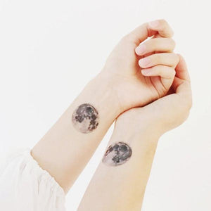 Sophie Clowders moon print temporary tattoo for Modern Craft