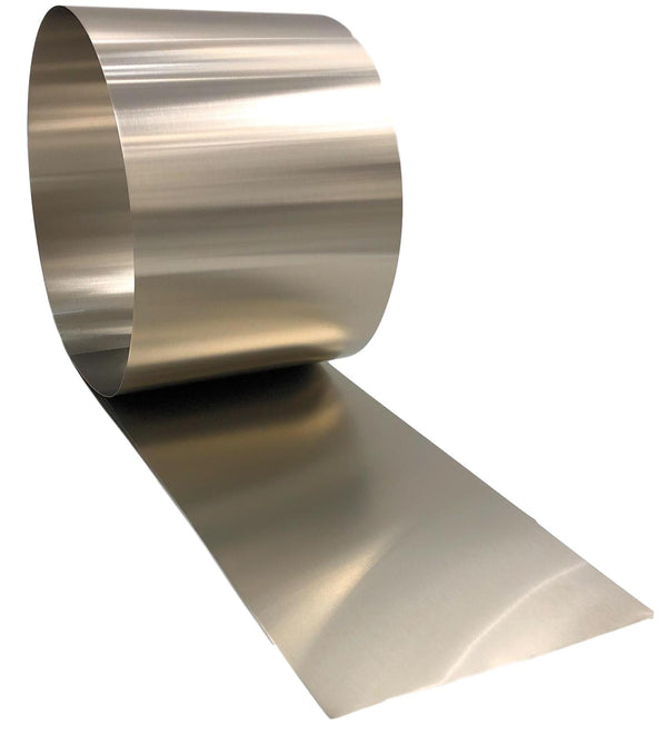 Stainless Steel  Flashing Rolls- Bright Finish ( 26 gauge) 10 FT Long