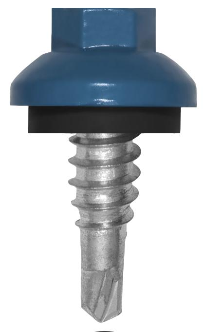 "ZXL Dome Cap 7/8"" Stitch Lap Metal Building Screws"