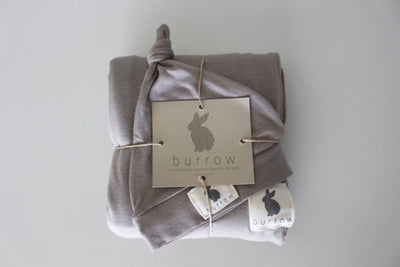 Mocha Swaddle & Beanie Set - 'Tan'