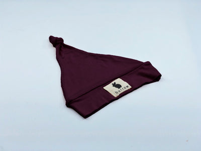 'Magpie' Knotted Beanie - Wine