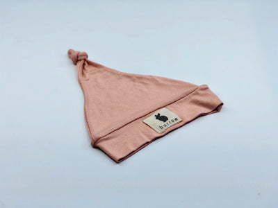 'Plush' Knotted Beanie - Dusty Pink