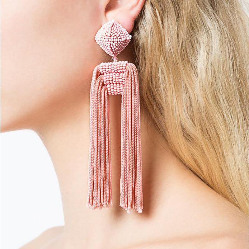 Bohemian Statement Tassel Earrings