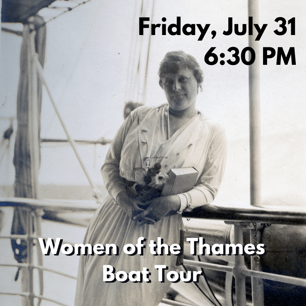 Suffragettes, Puppeteers, & Patriots: Women of the Thames Boat Tour (Friday, July 31 at 6:30 PM)