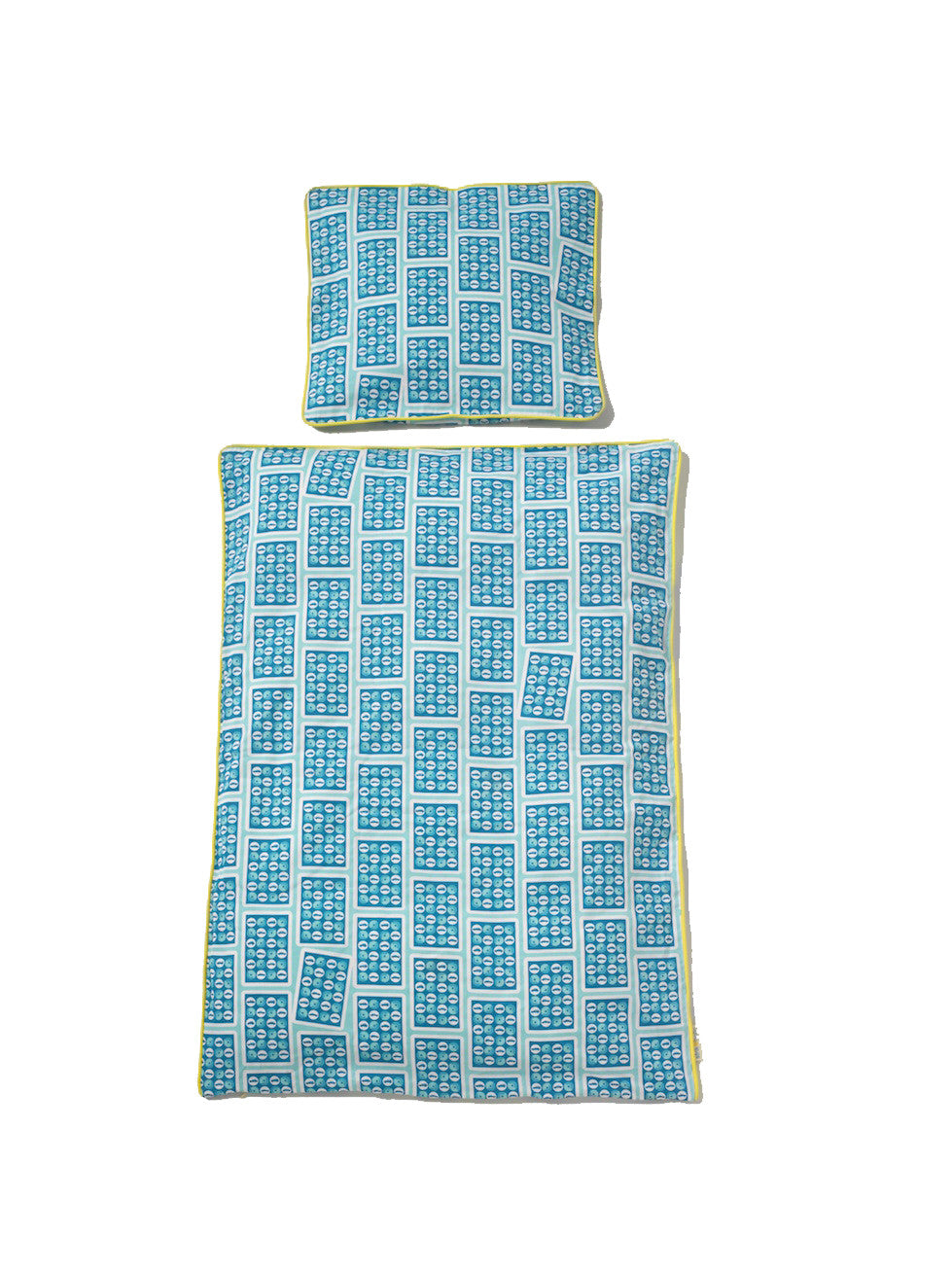 Car Playing Cards bed linen, blue