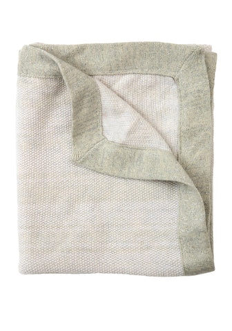 TweedStitch Baby Blanket, white
