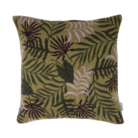 Leaf cushion, green