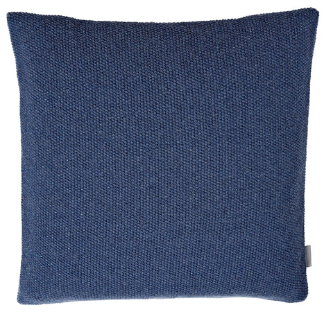 SeedStitch cushion, blue/glitter