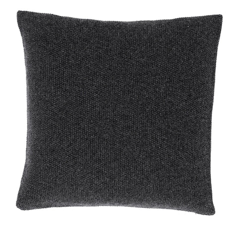 SeedStitch cushion, charcoal/black glitter