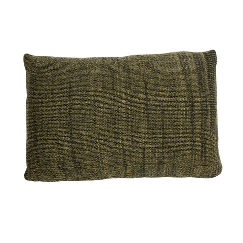 Melange CHUNKY cushion, moss green