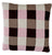 Squares cushion, brown/bordeaux