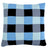 Squares cushion, blue/grey