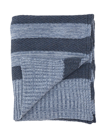 Tactile Stripes blanket, blue