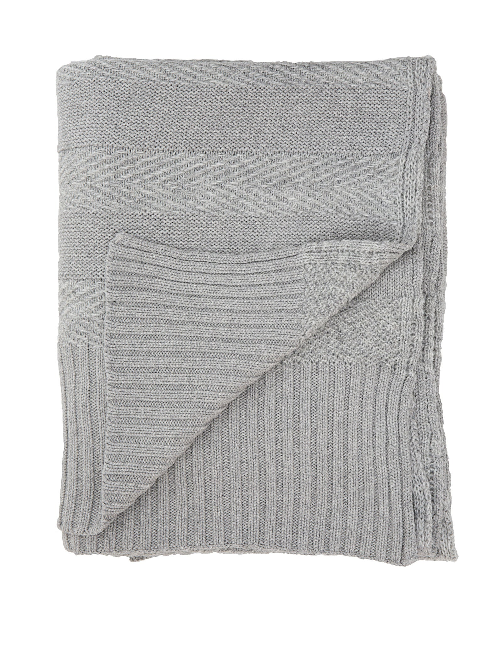 Tactile Stripes blanket, light grey