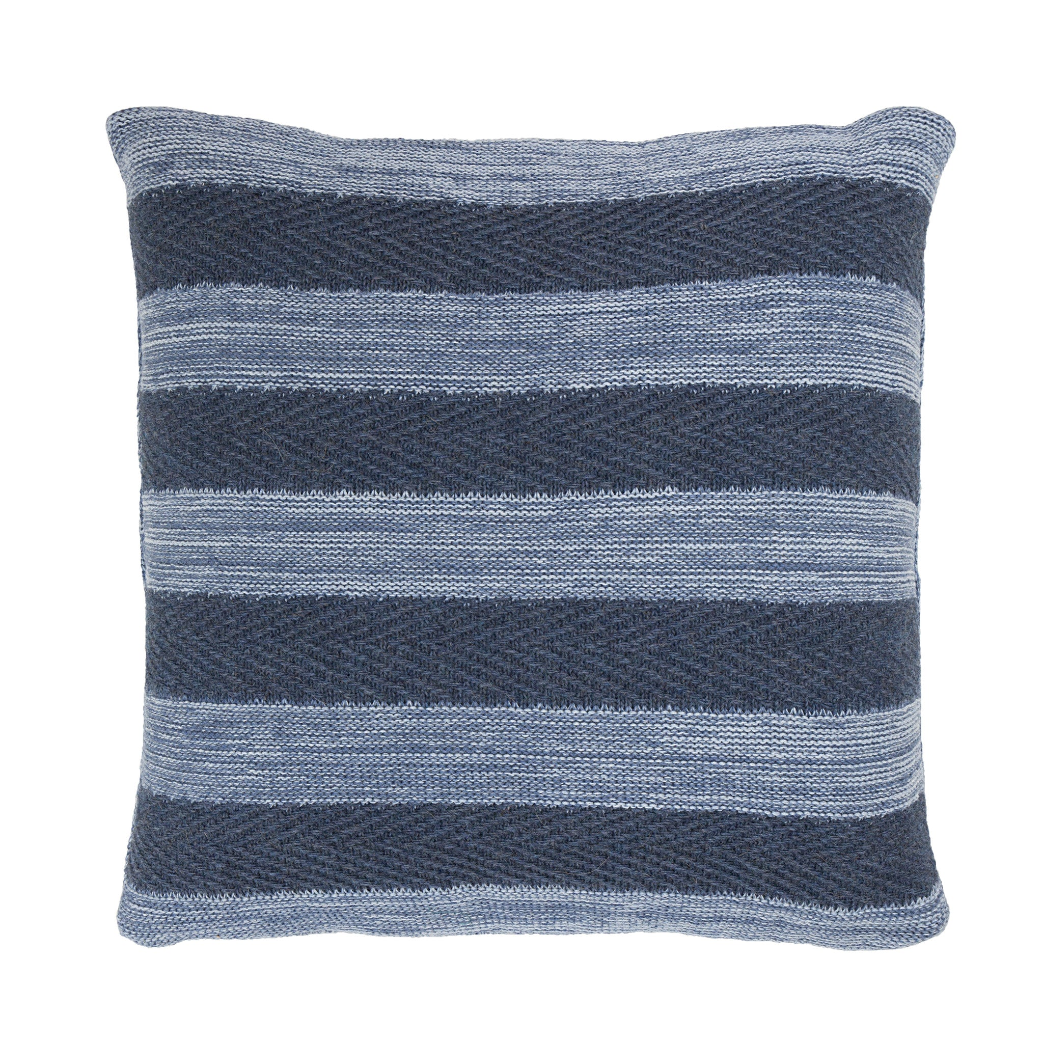 Tactile Stripes cushion, blue