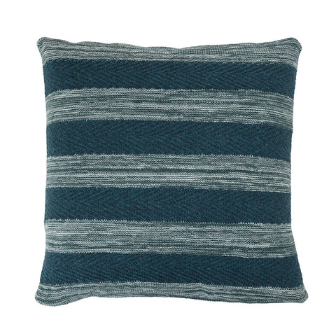 Tactile Stripes cushion, green