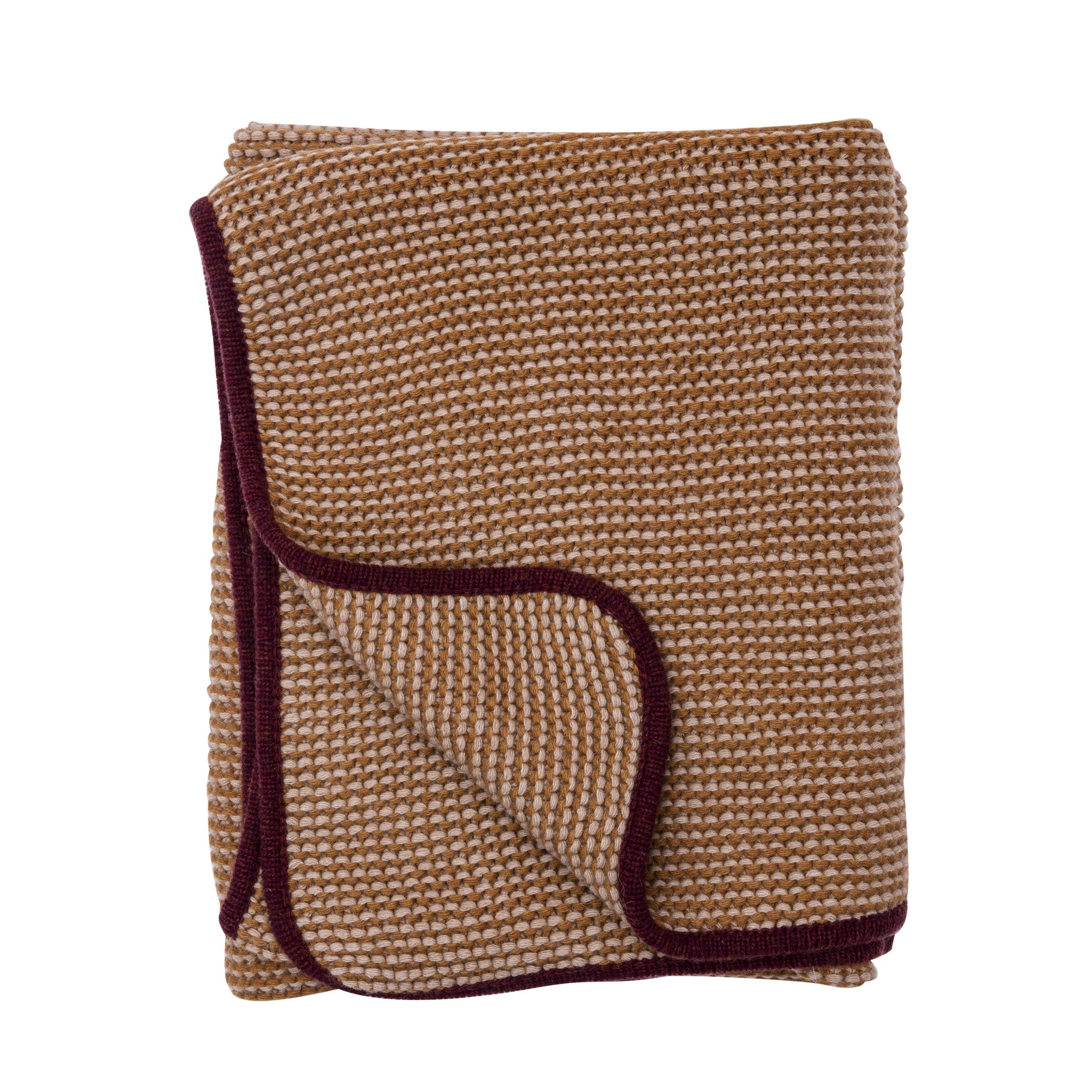 Wave blanket, sand/bordeaux