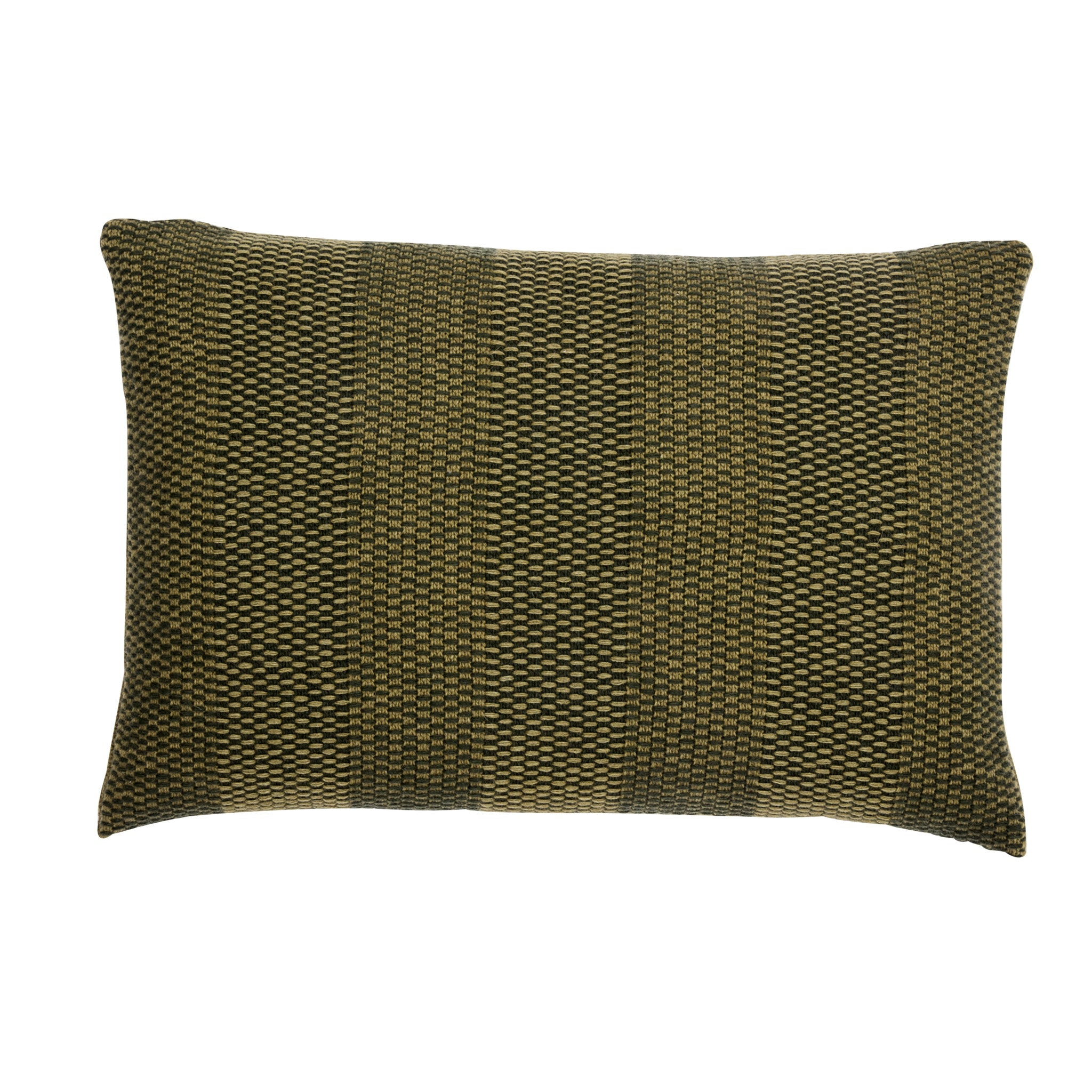 Weave Knit cushion, moss green