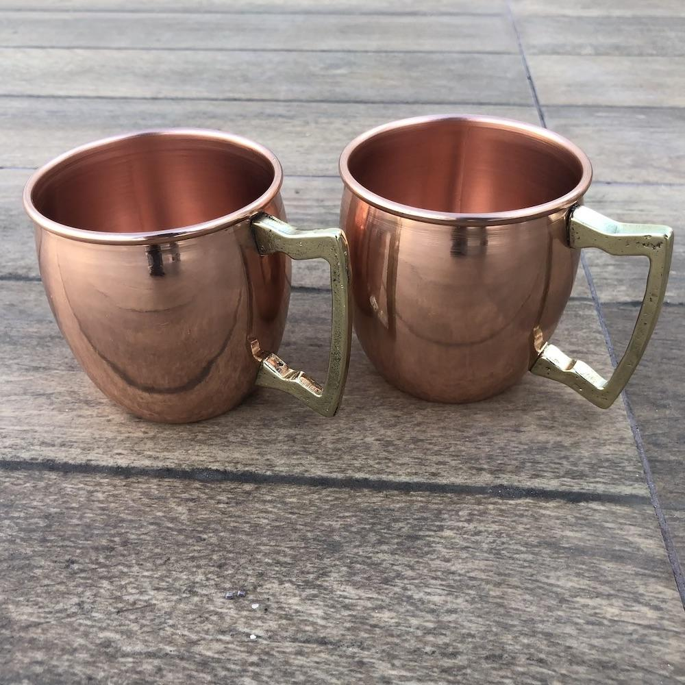 Kit 4 Canecas De Cobre Pub Moscow Mule 270 Ml