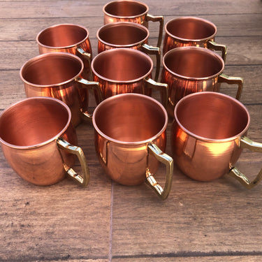 Kit 10 Canecas De Cobre Pub Moscow Mule 270 Ml