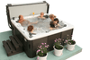 Acrylic hot tub seating features