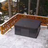 Hot tub on chalet balcony