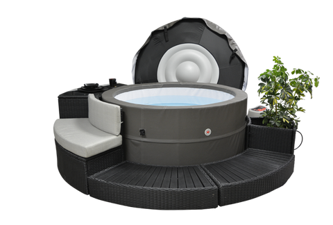 Swift Current V2 portable spa surround furniture