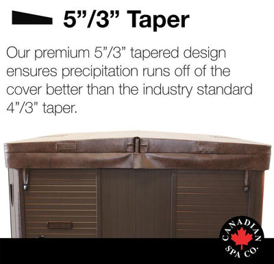 Canadian Spa Co. 5in/3in Tapered DELUXE Spa Cover