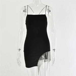 'Don't Call Me Baby' Sparkle Minidress (Black)-LovelyThreads.co