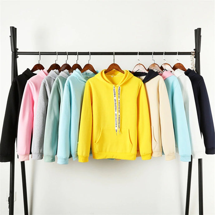 'Love Collection' Street Fashion Hoodies (10 Color Combos)-LovelyThreads.co