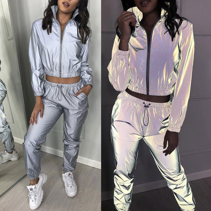 'Night & Day' Super Hologram Reflective Tracksuit-LovelyThreads.co