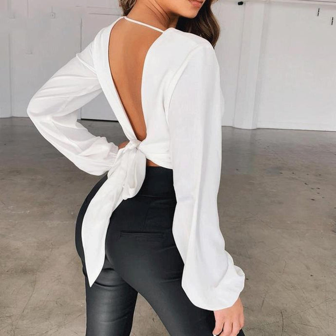 'No Turning Back' Bow Detail Blouse (4 Colors)-LovelyThreads.co
