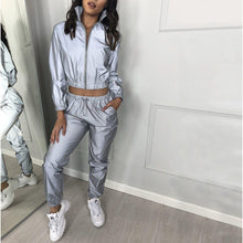 Load image into Gallery viewer, 'Night & Day' Super Hologram Reflective Tracksuit-LovelyThreads.co