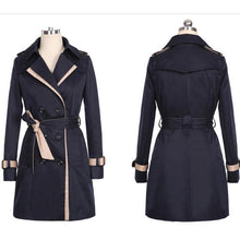 Load image into Gallery viewer, 'Babe Captain'  Long Coat Jacket + Design Details