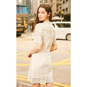 'Vintage Swagger' Exquisite Lace Dress-LovelyThreads.co