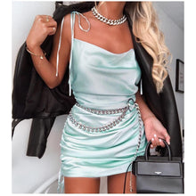 Load image into Gallery viewer, 'Galaxy MINT' 2020 Summer Satin Mini Dress