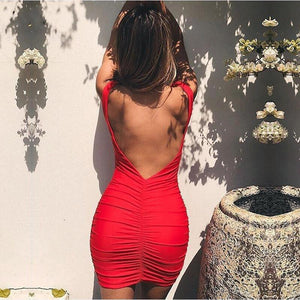 'No Second Dates' Backless Summer Dress (Multi-Color)-LovelyThreads.co