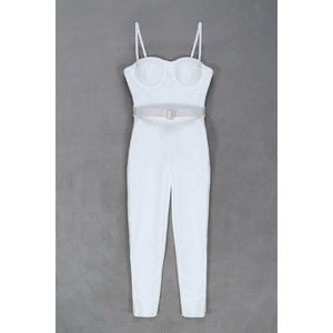 'Refuse To Lose' Sexy White Bandage Jumpsuit-LovelyThreads.co